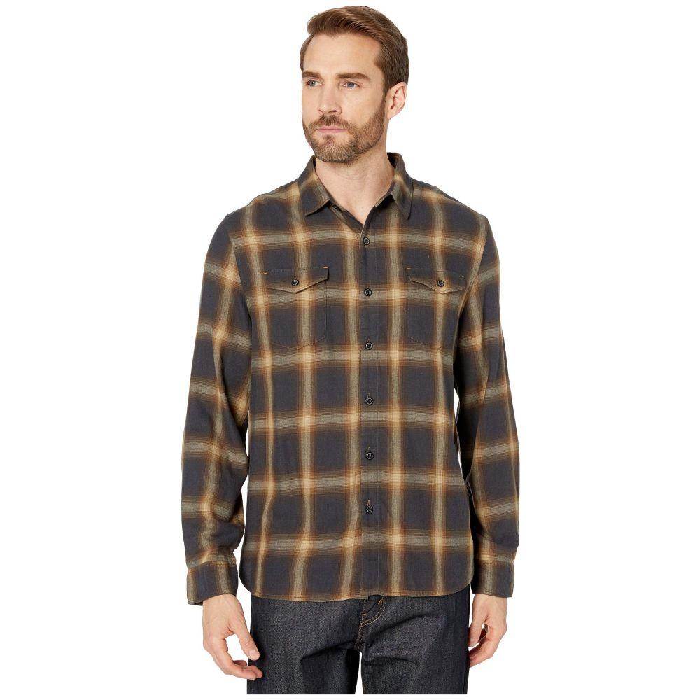トゥルーグリット True Grit メンズ シャツ トップス【Spirit In The Sky Bowery Checks Cotton Blend Long Sleeve Two-Pocket Shirt】Brown