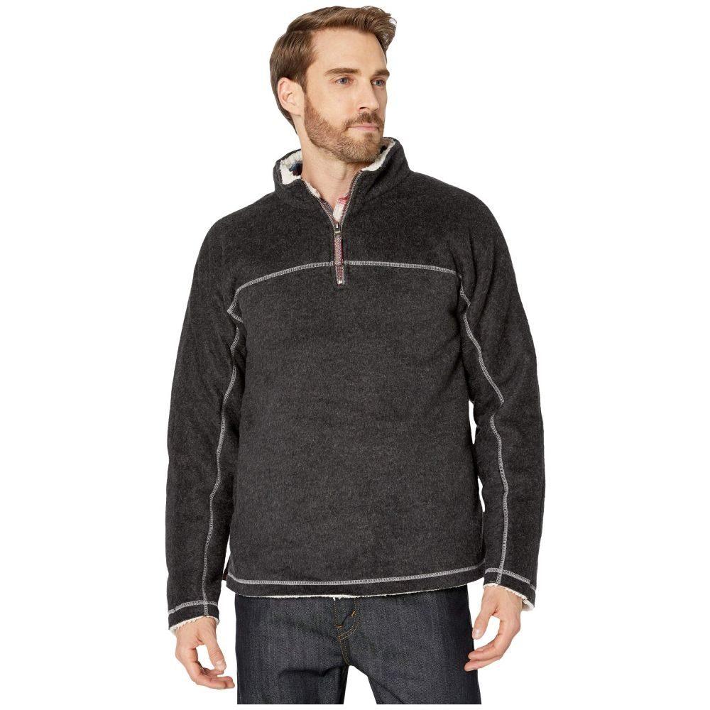 トゥルーグリット True Grit メンズ ジャケット アウター【Melange Sherpa Ultra Soft 1/4 Zip Pullover】Black