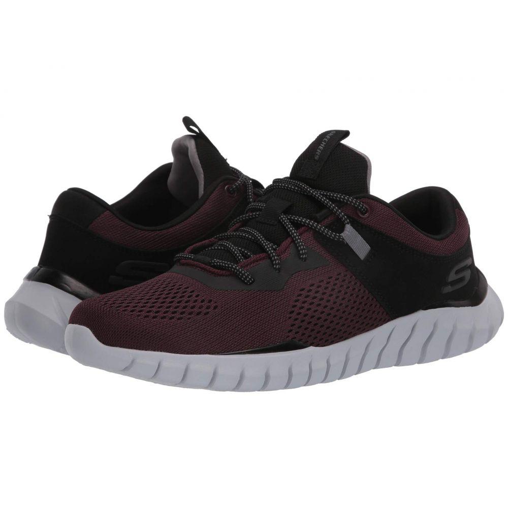 スケッチャーズ SKECHERS メンズ スニーカー シューズ・靴【Overhaul】Burgundy/Black