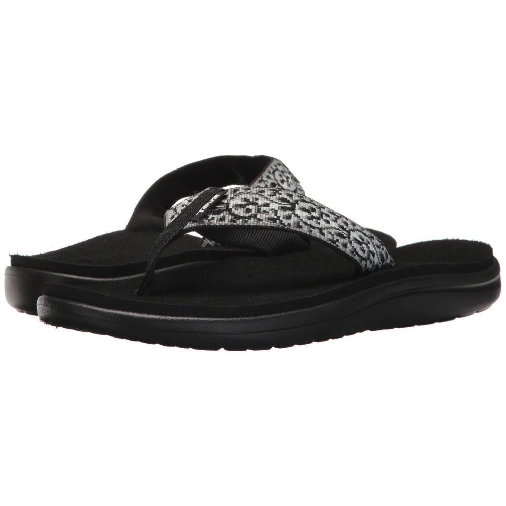 テバ Teva レディース ビーチサンダル シューズ・靴【Voya Flip】Companera Black/White