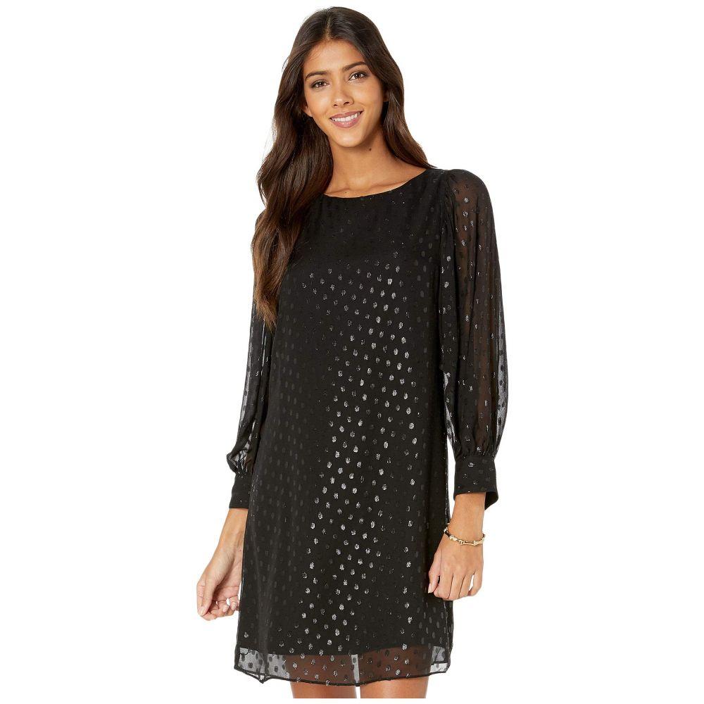 リリーピュリッツァー Lilly Pulitzer レディース ワンピース ワンピース・ドレス【Maisel Silk Dress】Onyx Moroccan Metallic Clip