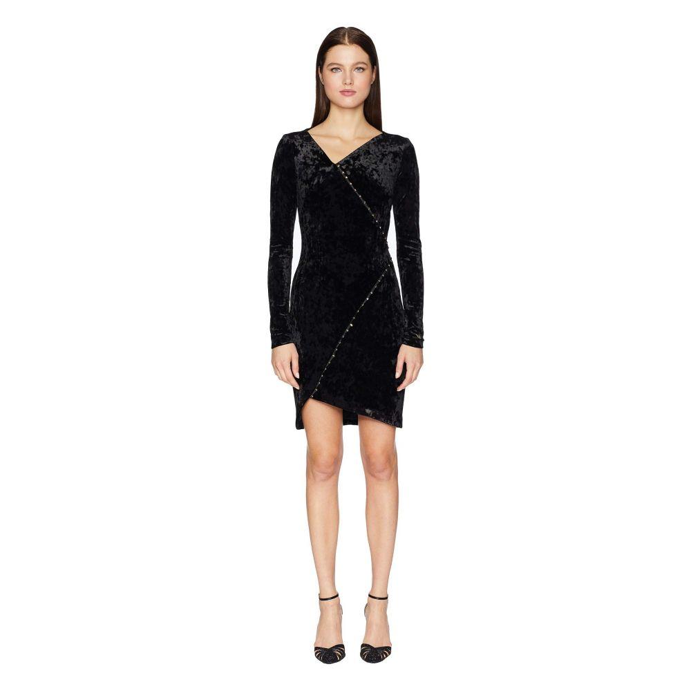 ヴェルサーチ Versace Jeans Couture レディース ワンピース ワンピース・ドレス【Embellished Long Sleeve Crossover Dress】Nero