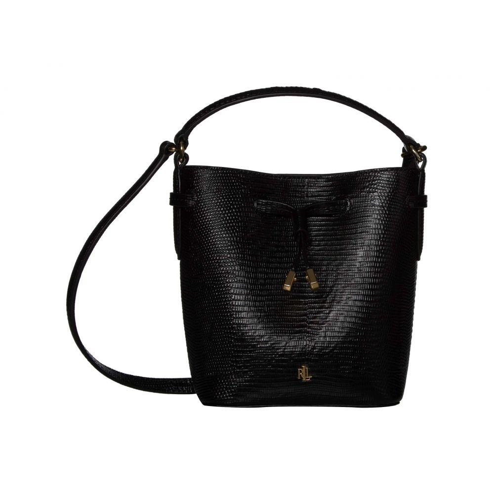 ラルフ ローレン LAUREN Ralph Lauren レディース バッグ 【Debby III Drawstring Mini】Black Embossed Leather