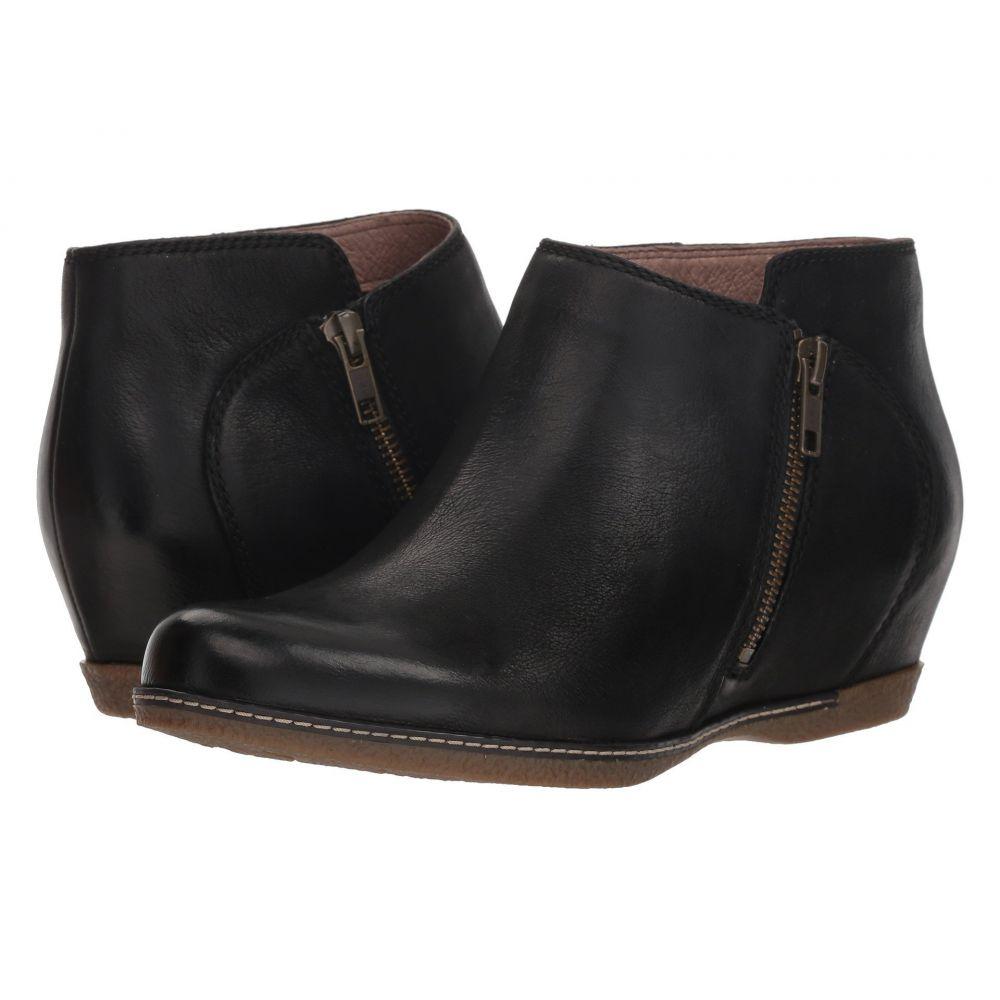 ダンスコ Dansko レディース ブーツ シューズ・靴【Leyla】Black Burnished Nubuck