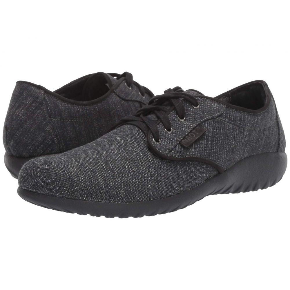 ナオト Naot レディース ローファー・オックスフォード シューズ・靴【Tiaki】Black Tweed Leather Combo