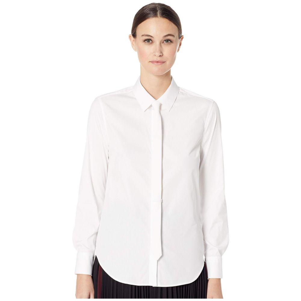 ニール バレット Neil Barrett レディース ブラウス・シャツ トップス【Stretch Poplin Fit Shirt】White