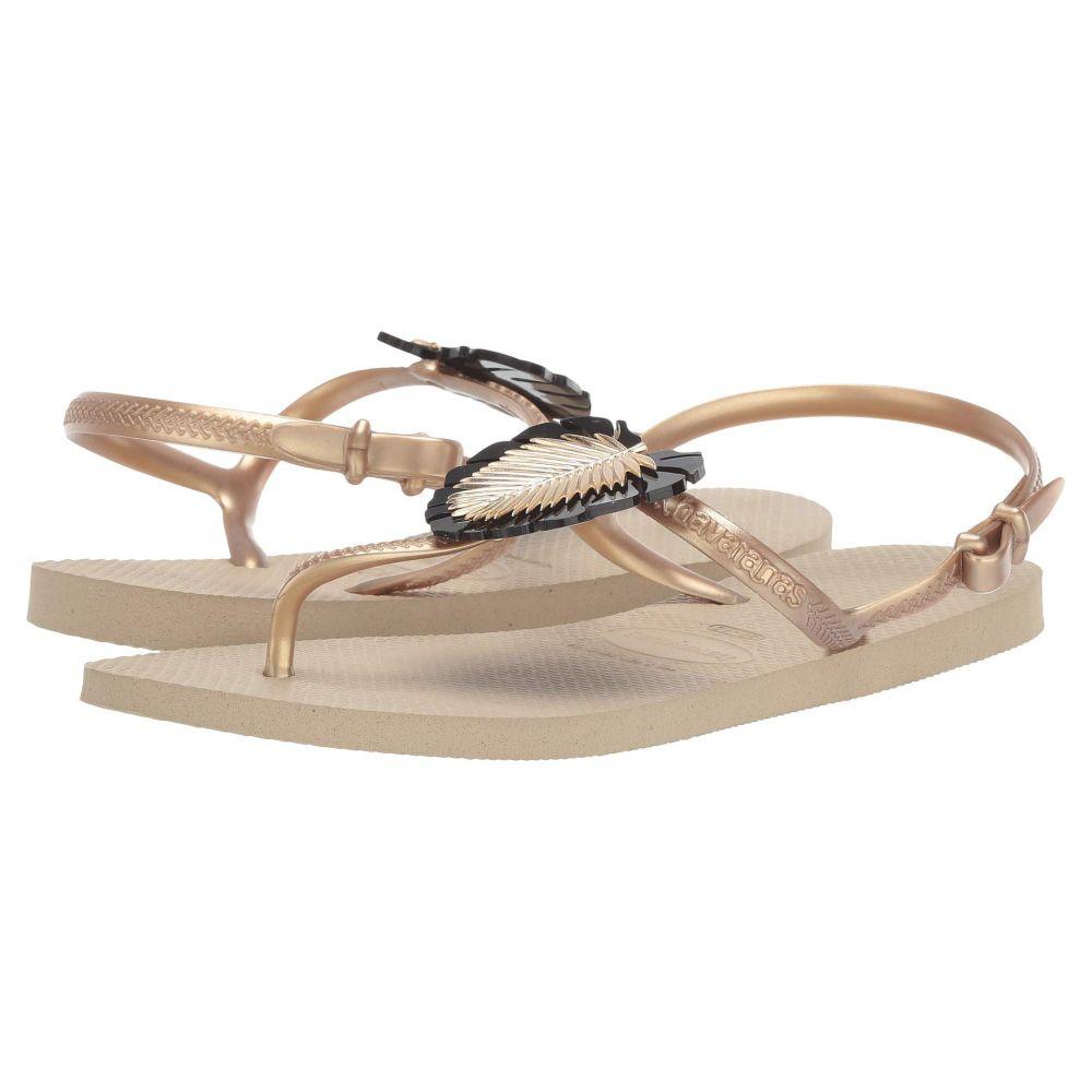 ハワイアナス Havaianas レディース サンダル・ミュール シューズ・靴【Freedom Metal Pin Sandal】Sand Grey