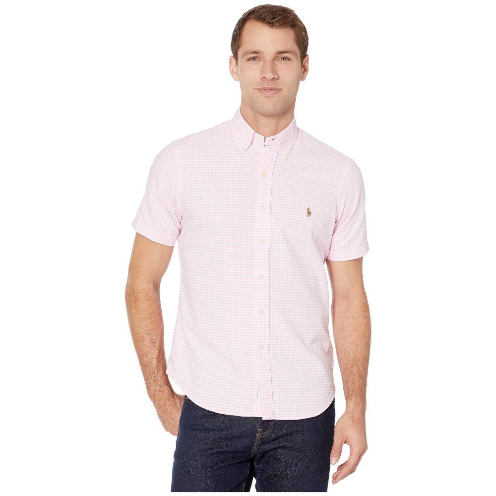 ラルフ ローレン Polo Ralph Lauren メンズ 半袖シャツ トップス【Classic Fit Short Sleeve Oxford Shirt】Pink/White