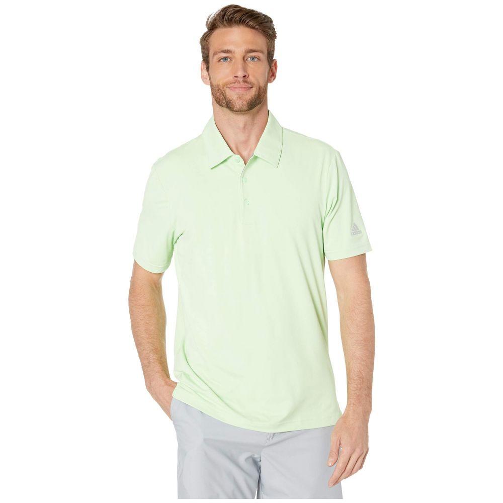 アディダス adidas Golf メンズ ポロシャツ トップス【Ultimate Heather Polo】Glow Green/Grey Two