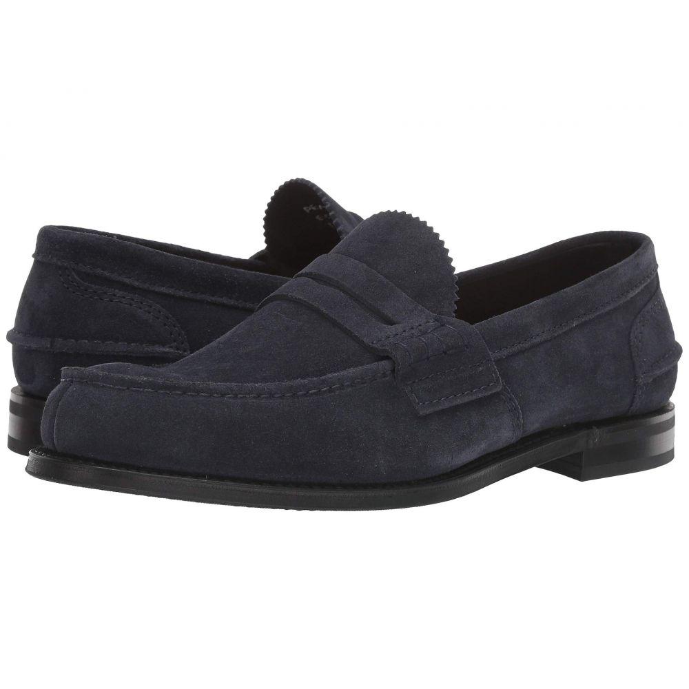 チャーチ Church's メンズ ローファー シューズ・靴【Pembrey Loafer】Navy Suede