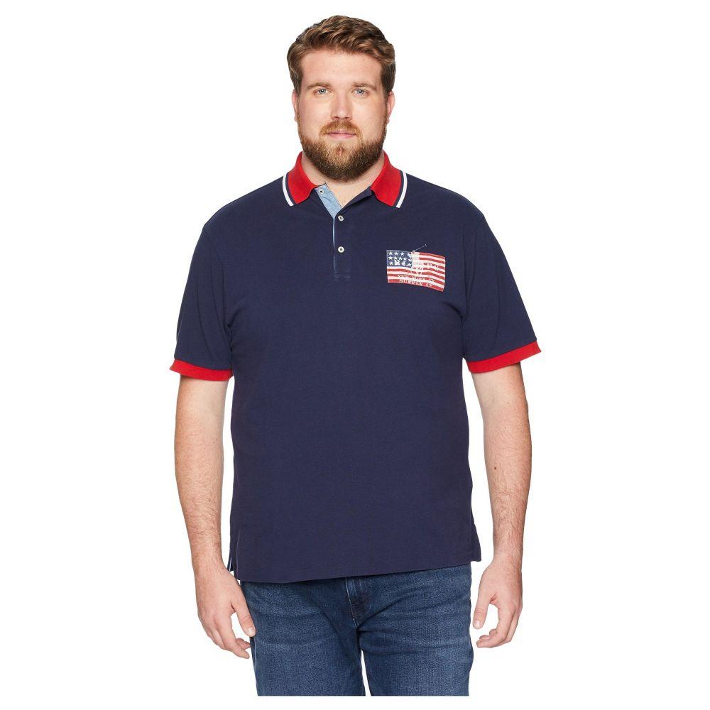 ラルフ ローレン Polo Ralph Lauren Big & Tall メンズ ポロシャツ 大きいサイズ トップス【Big & Tall American Flag Pique Polo】Cruise Navy
