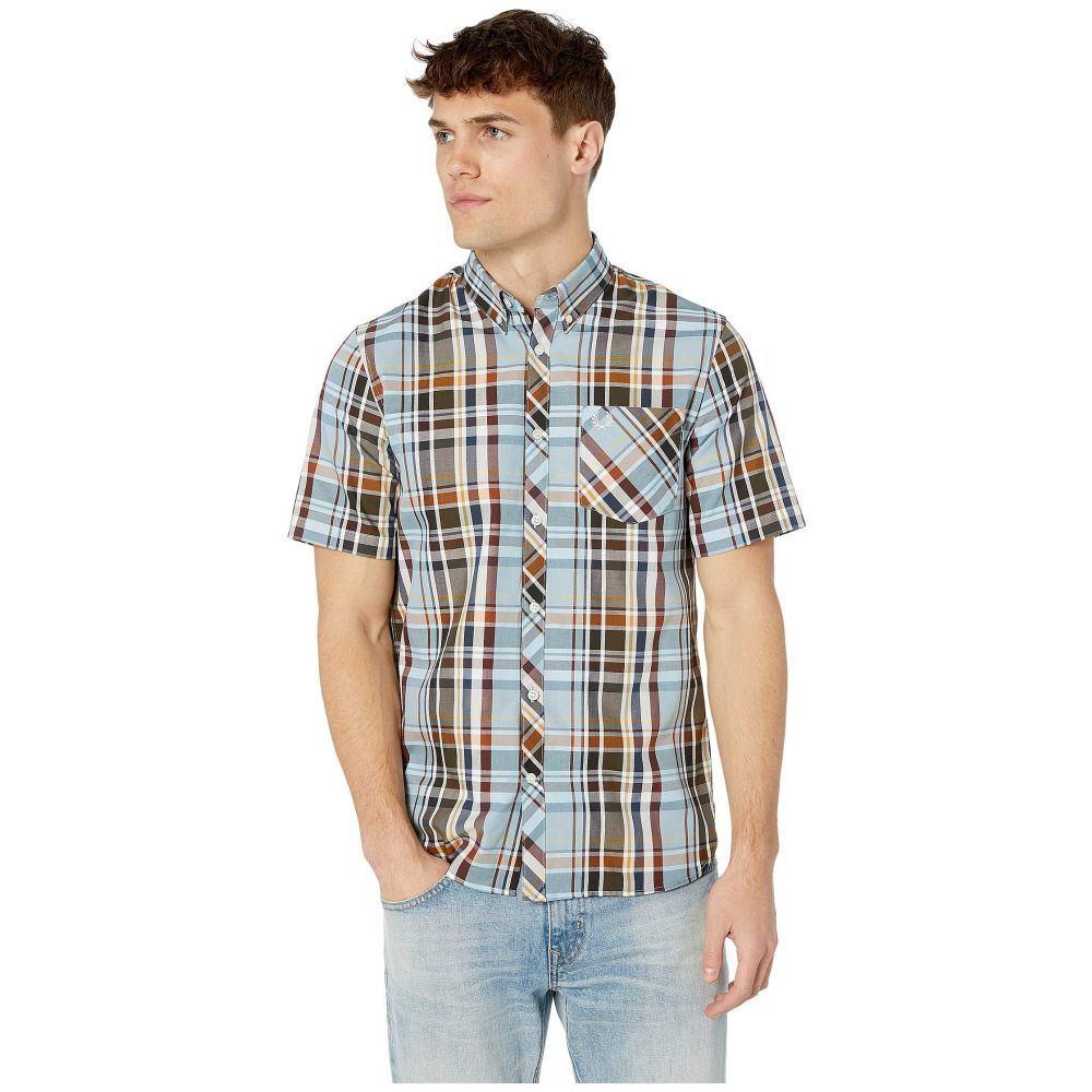 フレッドペリー Fred Perry メンズ シャツ トップス【Madras Check Shirt】Sky