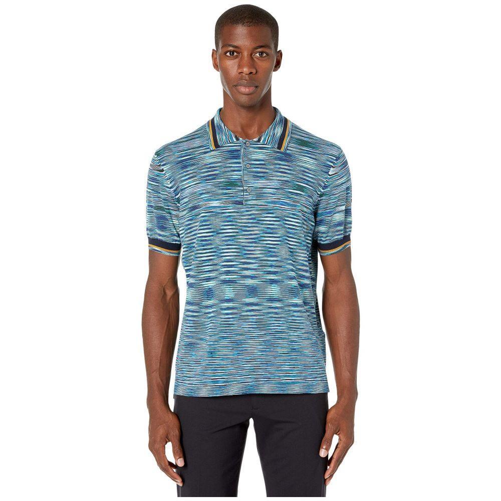 ミッソーニ Missoni メンズ ポロシャツ トップス【Boston Polo Sweater】Blue