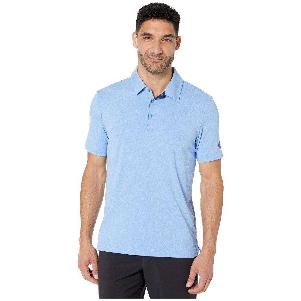 アディダス adidas Golf メンズ ポロシャツ トップス【Ultimate 2.0 Novelty Heather Polo】Real Blue Melange/Grey Three