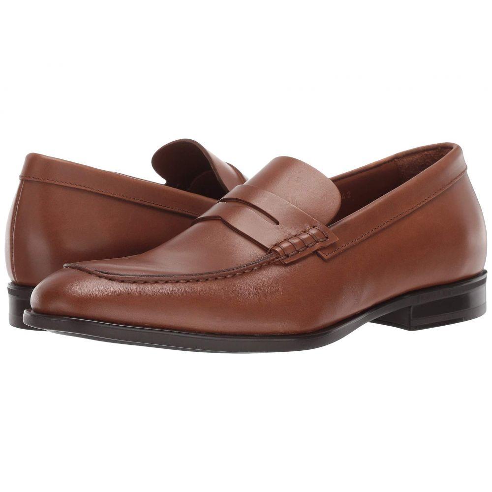 アクアタリア Aquatalia メンズ ローファー シューズ・靴【Adamo】Cognac Dress Calf