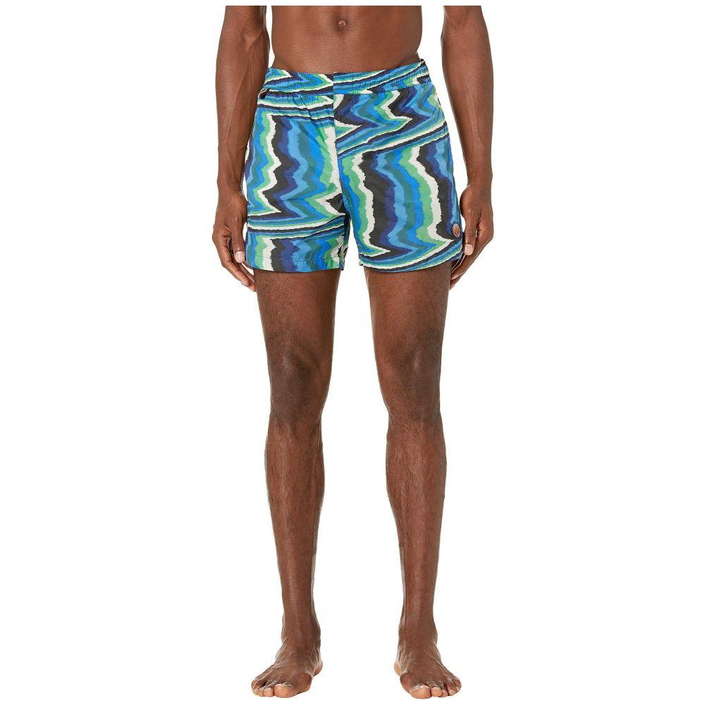 ミッソーニ Missoni Mare メンズ 海パン 水着・ビーチウェア【Macro Fiammato Swim Trunks】Blue