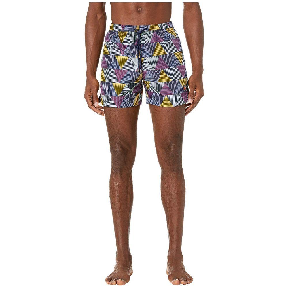 ミッソーニ Missoni Mare メンズ 海パン 水着・ビーチウェア【Striped Patchwork Swim Trunks】Purple