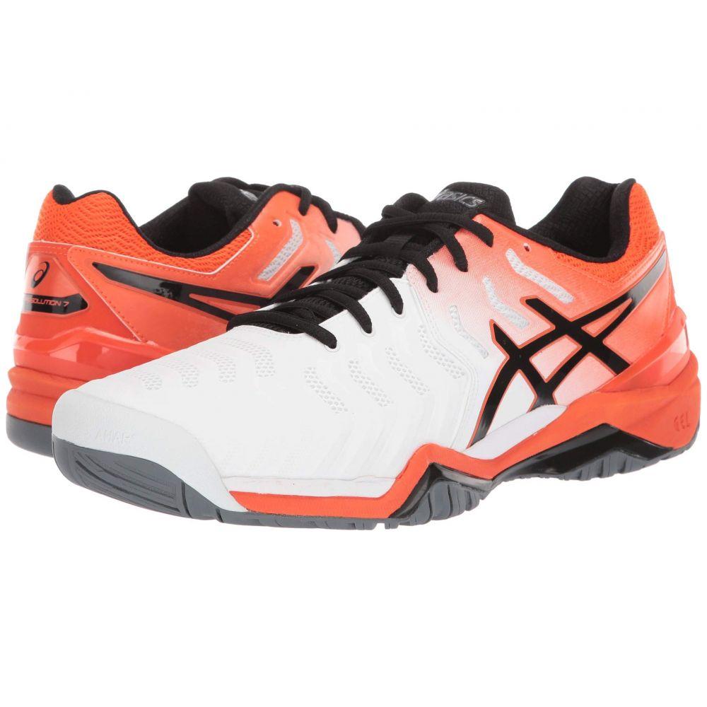 アシックス メンズ テニス シューズ・靴 White/Koi 【サイズ交換無料】 アシックス ASICS メンズ テニス シューズ・靴【Gel-Resolution 7】White/Koi