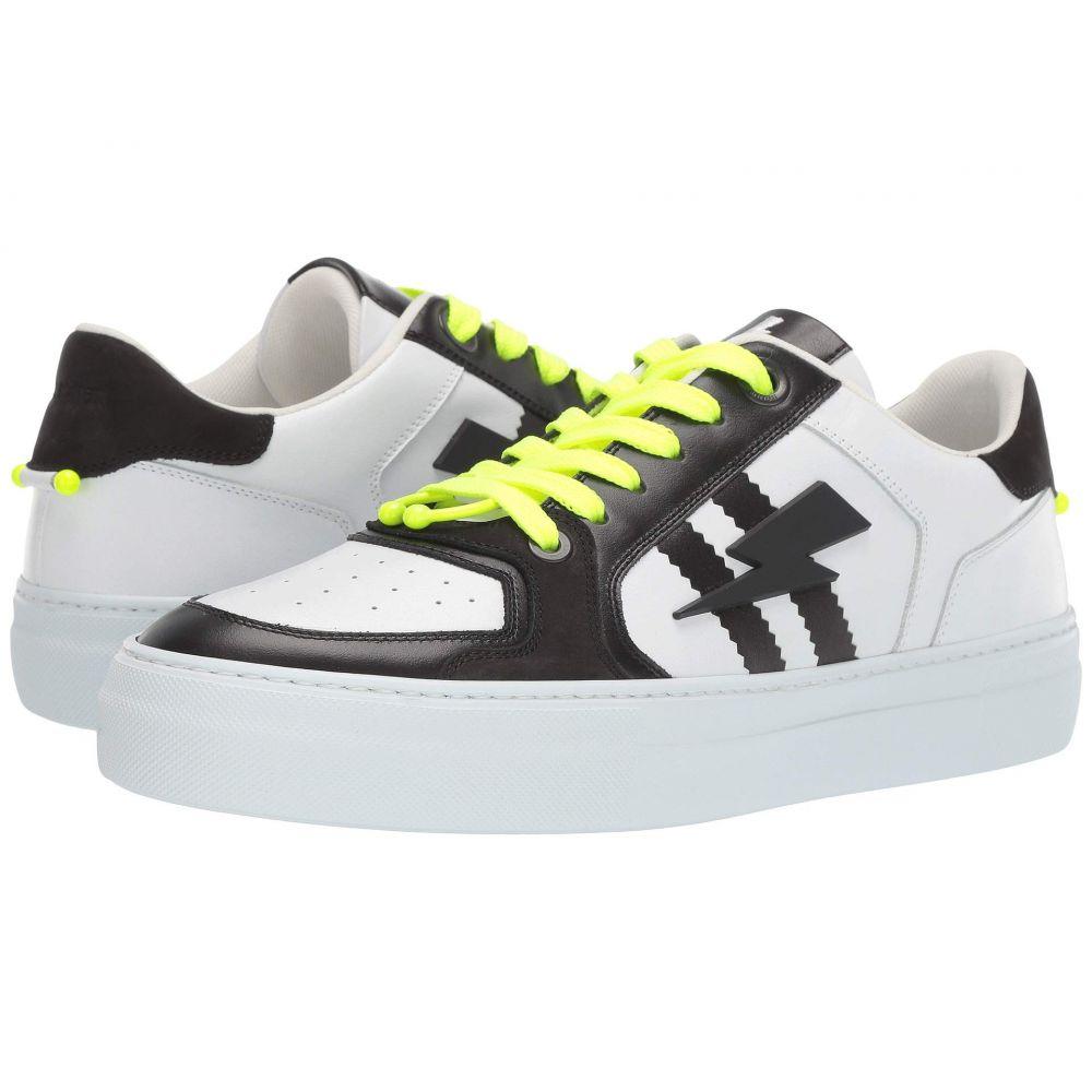 ニール バレット Neil Barrett メンズ スニーカー シューズ・靴【Pierced Modernist Ultra Sneaker】White/Black