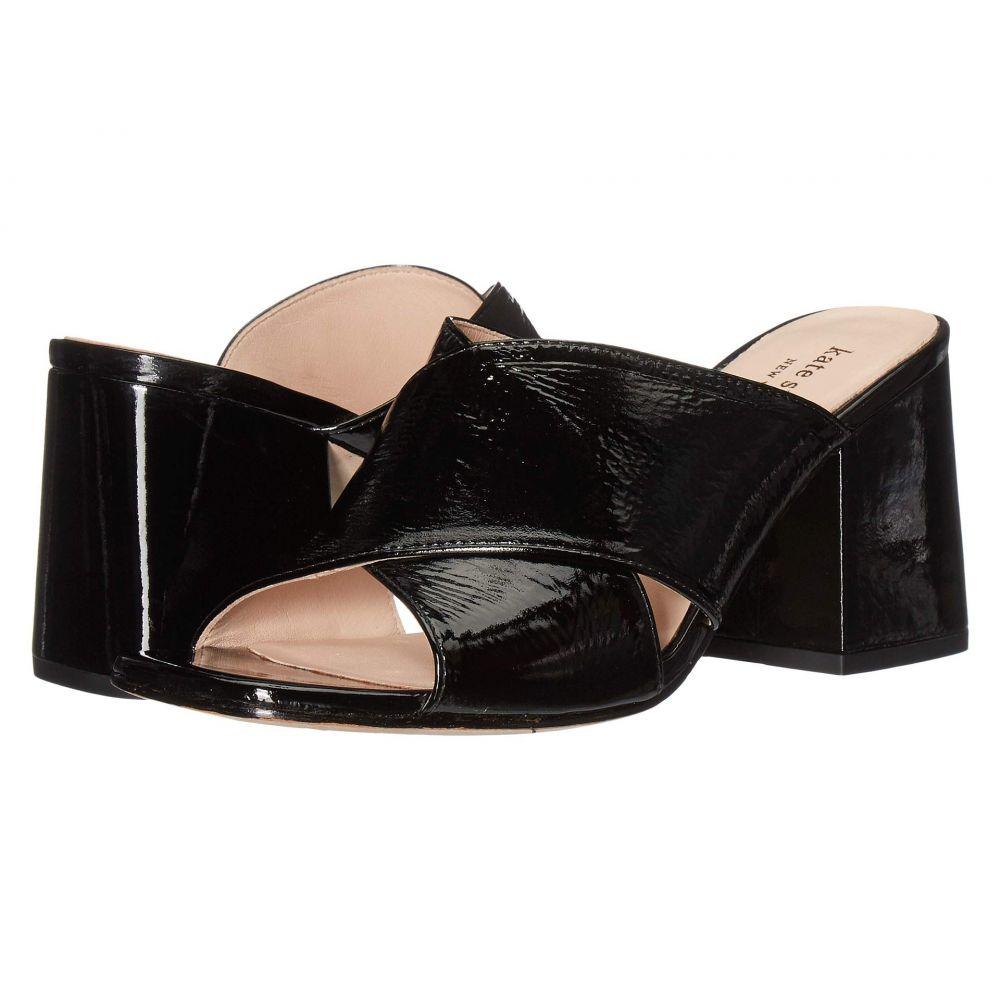 ケイト スペード Kate Spade New York レディース サンダル・ミュール シューズ・靴【Venus】Black Crinkle Patent