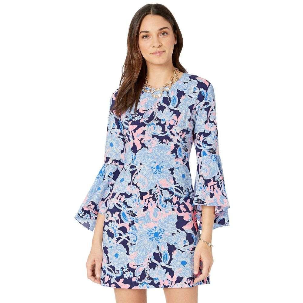 リリーピュリッツァー Lilly Pulitzer レディース ワンピース ワンピース・ドレス【Kayla Stretch Dress】Bright Navy Amore Please