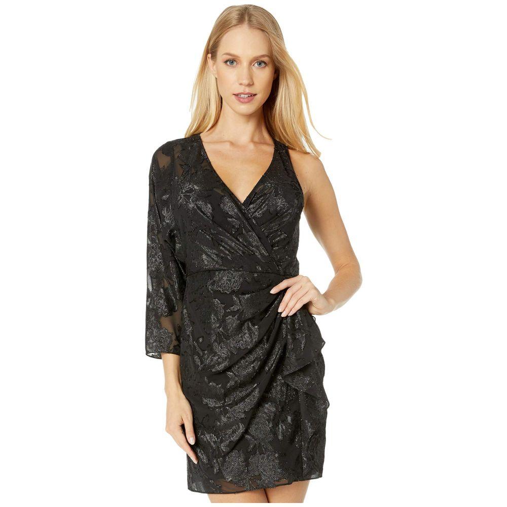 ビーシービージーマックスアズリア BCBGMAXAZRIA レディース ワンピース ワンピース・ドレス【One Sleeve Metallic Dress】Black