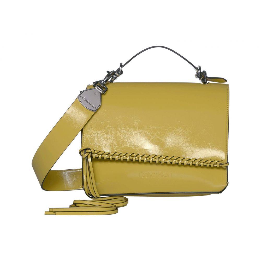 カルバンクライン Calvin Klein レディース ショルダーバッグ バッグ【Fringe Glazed Patent Shoulder Bag】Yellow