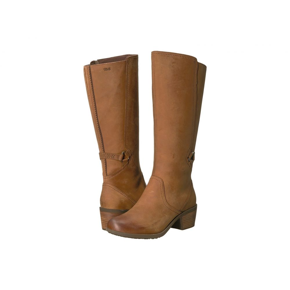 テバ Teva レディース ブーツ シューズ・靴【Foxy Tall Waterproof】Brown