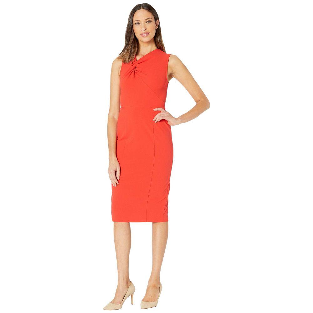 ドナ モルガン Donna Morgan レディース ワンピース ノースリーブ ワンピース・ドレス【Sleeveless Crepe Sheath Dress】Scarlet Red