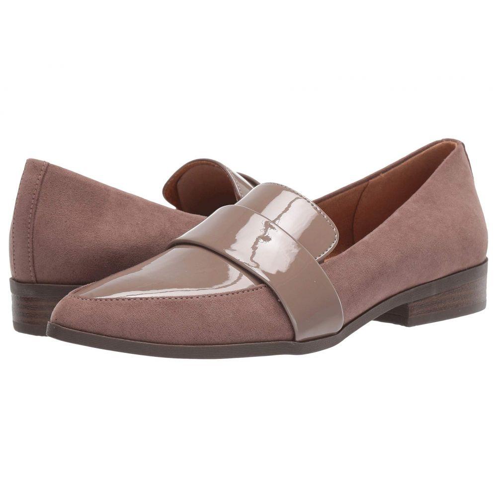 ドクター ショール Dr. Scholl's レディース ローファー・オックスフォード シューズ・靴【Agnes】Taupe Grey Microfiber/Patent