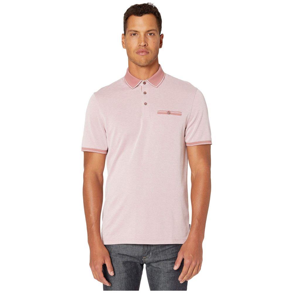 テッドベーカー Ted Baker メンズ ポロシャツ 半袖 トップス【Mightie Short Sleeve Flat Knit Soft Touch Polo】Mid Pink