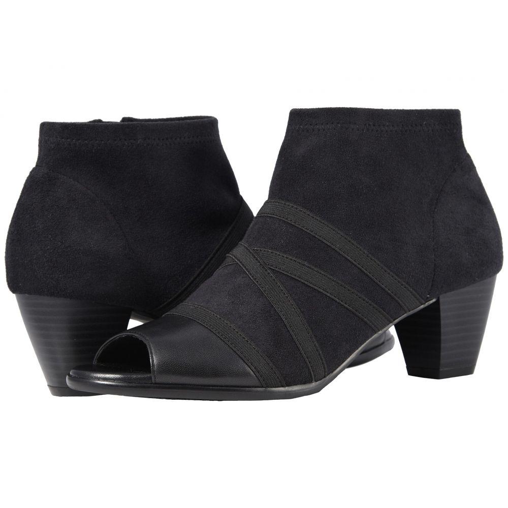 トロッターズ Trotters レディース ブーツ シューズ・靴【Maris】Black Soft Nappa Leather/Stretch Textile