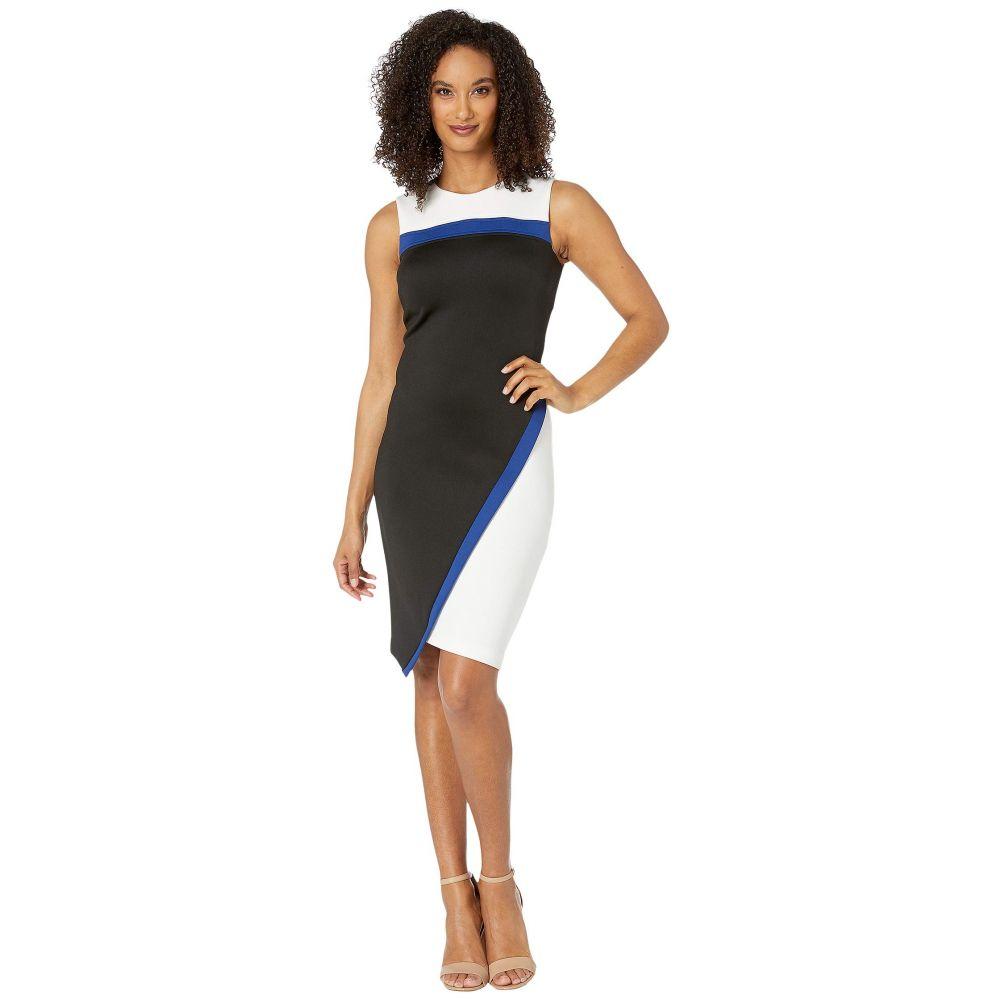 トミー ヒルフィガー Tommy Hilfiger レディース ワンピース ワンピース・ドレス【Heavyweight Scuba Dress】Ivory/Marina Blue/Black