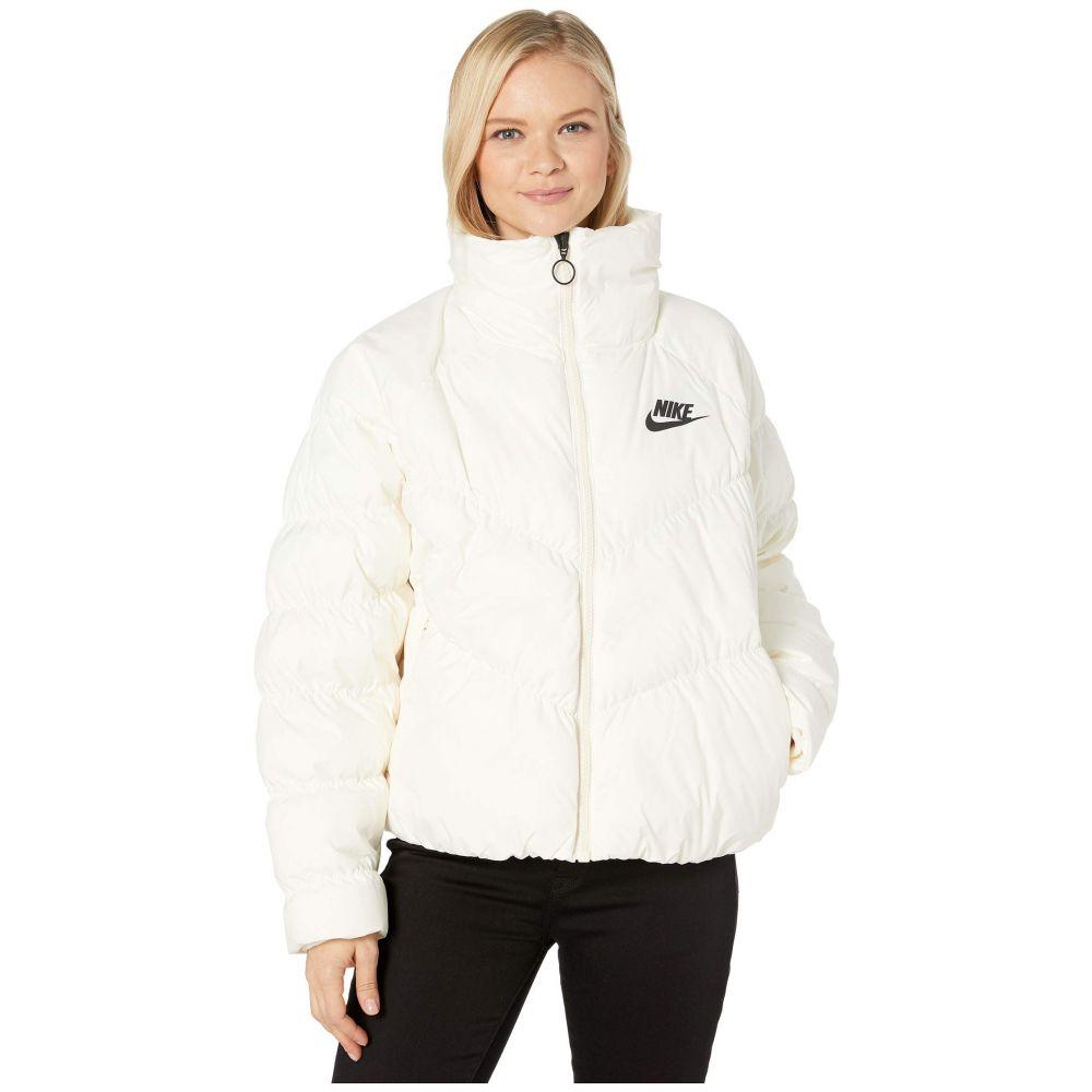 ナイキ Nike レディース ダウン・中綿ジャケット アウター【NSW Synthetic Fill Jacket Statement】Pale Ivory/Black