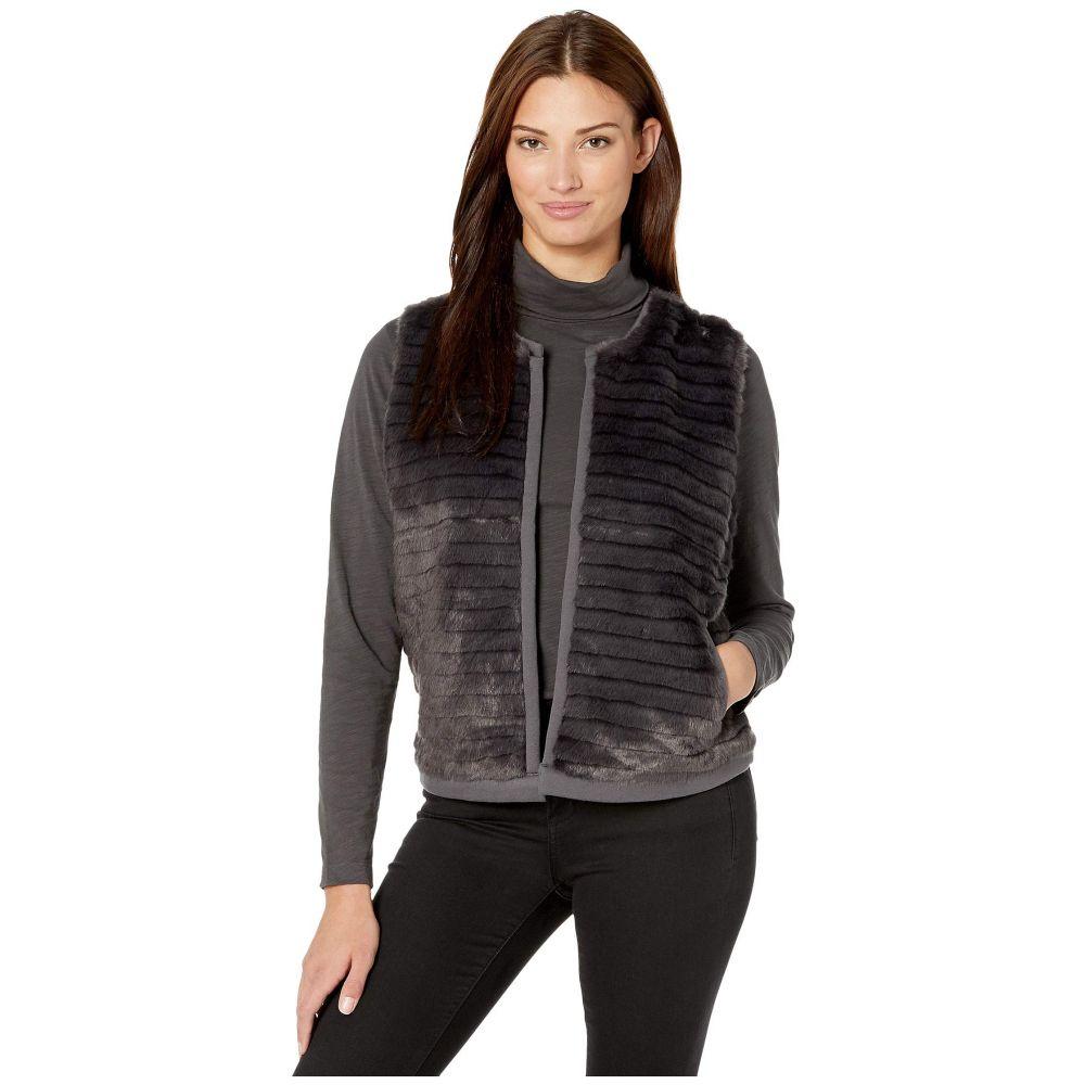 トリバル Tribal レディース ベスト・ジレ トップス【Faux Fur Vest w/ Knit Back】Steel Grey
