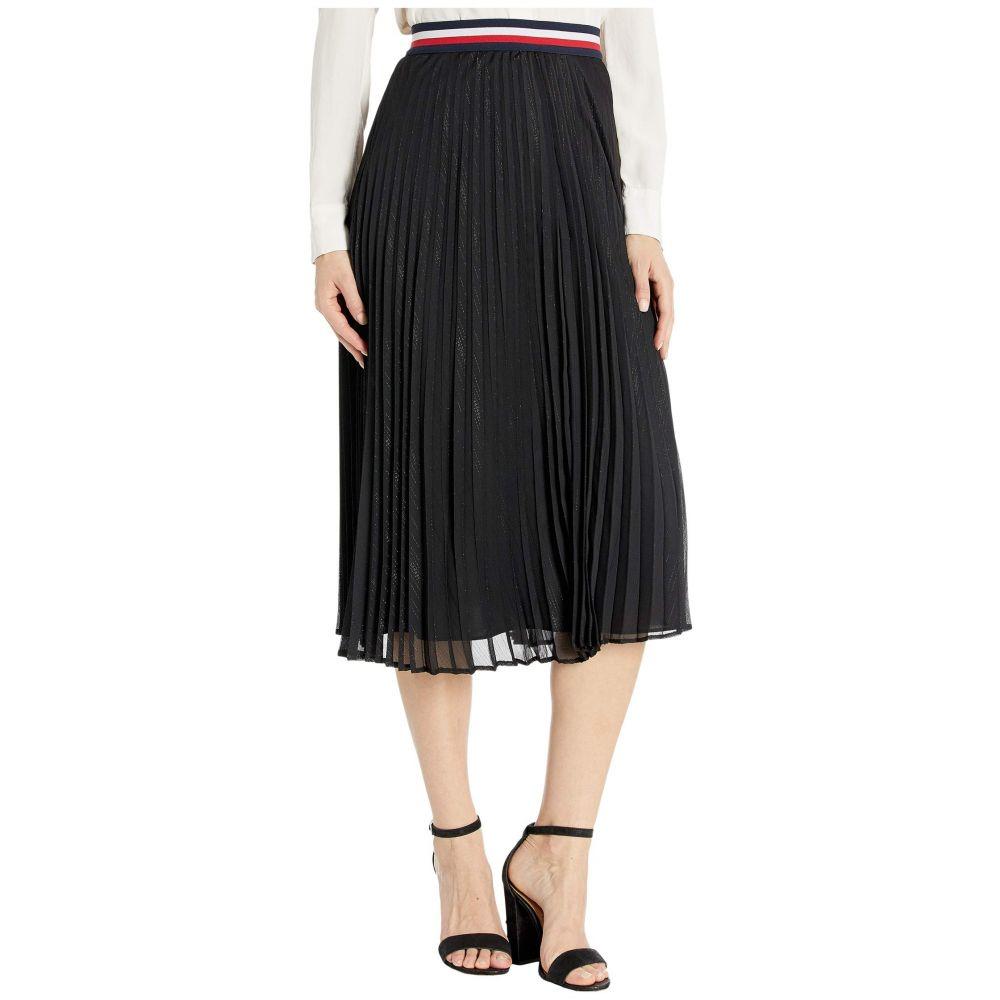 トミー ヒルフィガー Tommy Hilfiger レディース スカート 【Stripe Pleated Skirt】Black