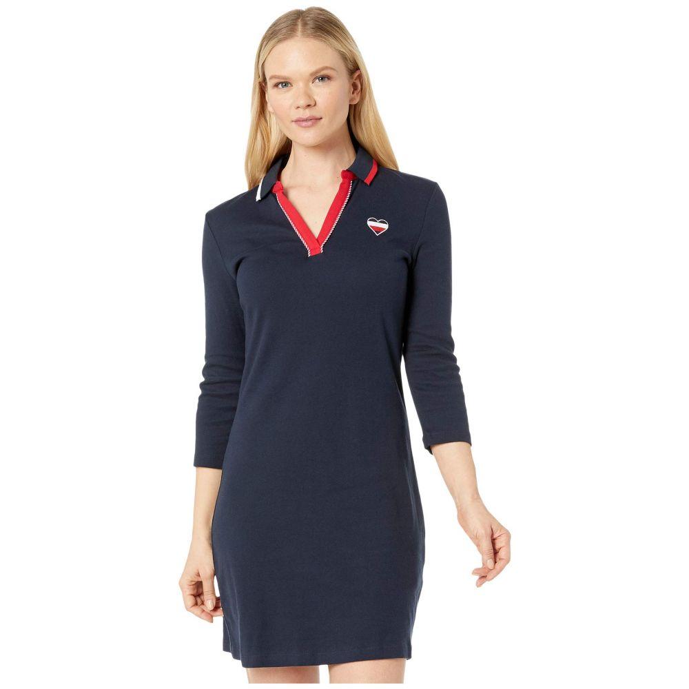 トミー ヒルフィガー Tommy Hilfiger レディース ワンピース ポロ ワンピース・ドレス【Y-Neck Polo Dress】Sky Captain