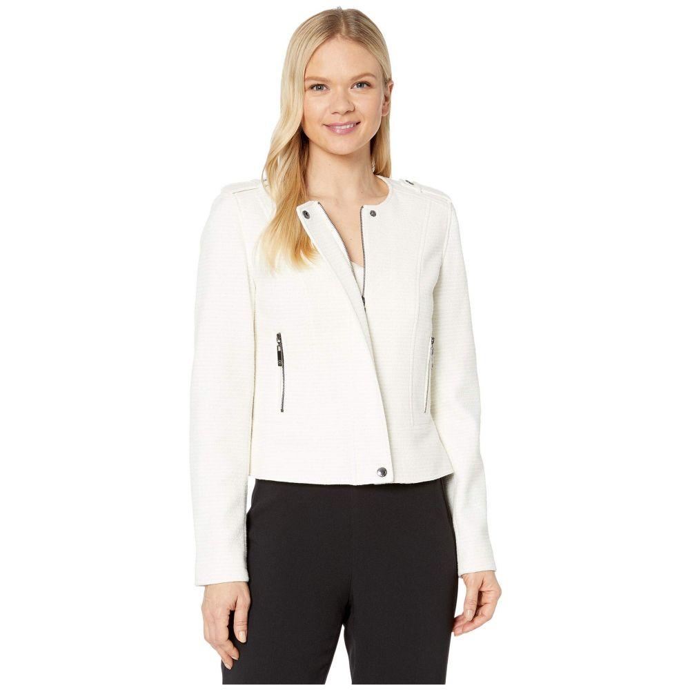 トミー ヒルフィガー Tommy Hilfiger レディース ジャケット アウター【Zip Front Jacket with Side Pockets】Ivory