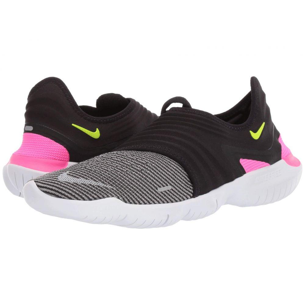 ナイキ Nike メンズ ランニング・ウォーキング シューズ・靴【Free RN Flyknit 3.0】Black/Pink Blast/Atmosphere Grey