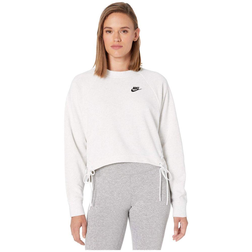 ナイキ Nike レディース フリース トップス【NSW Essential Crew Fleece Tie】Birch Heather/Black