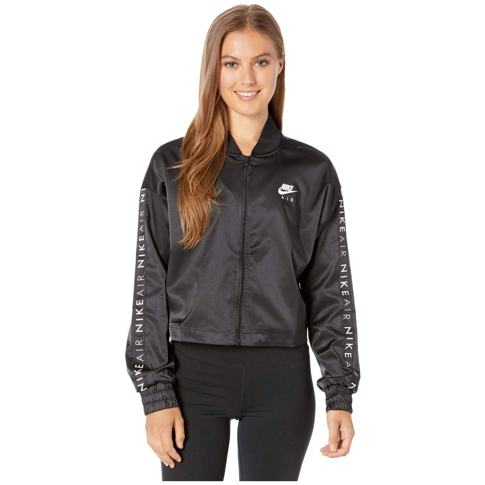 ナイキ Nike レディース ジャージ アウター【NSW Air Track Jacket Satin】Black