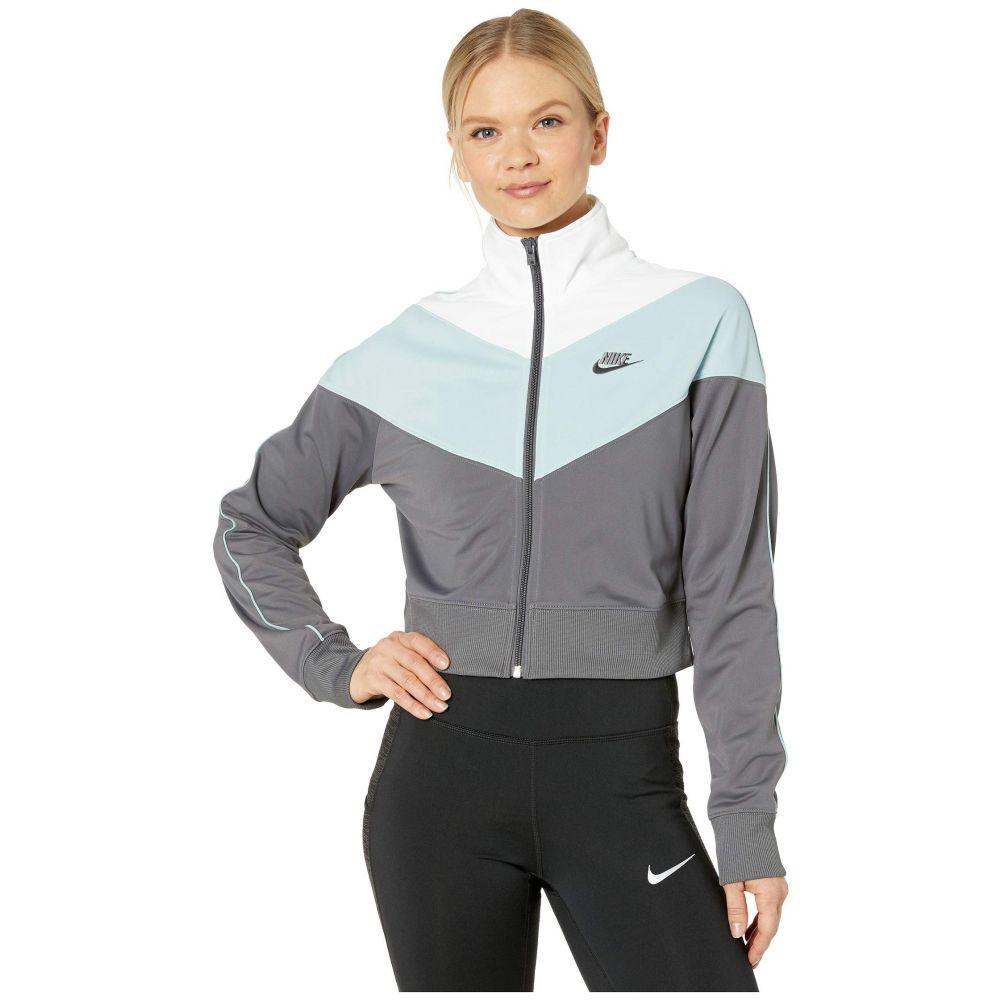 ナイキ Nike レディース ジャージ アウター【NSW Heritage Track Jacket Poly Knit】Dark Grey/Ocean Cube/White/Dark Grey