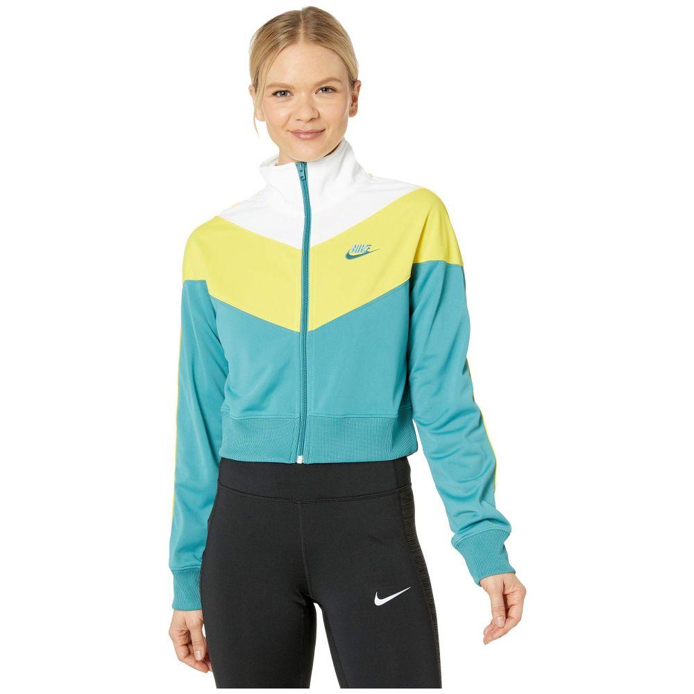 ナイキ Nike レディース ジャージ アウター【NSW Heritage Track Jacket Poly Knit】Mineral Teal/Chrome Yellow/Mineral Teal