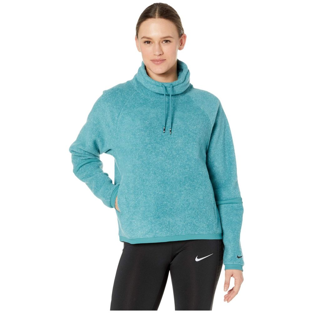 ナイキ Nike レディース フリース トップス【Therma Fleece Cowl Cozy】Mineral Teal/Heather/Mineral Teal/Black