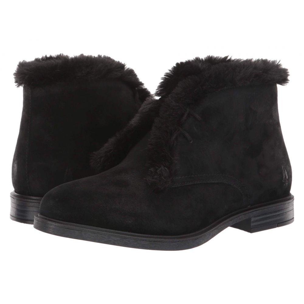 ハッシュパピー Hush Puppies レディース ブーツ チャッカブーツ シューズ・靴【Bailey Faux Fur Chukka】Black Suede