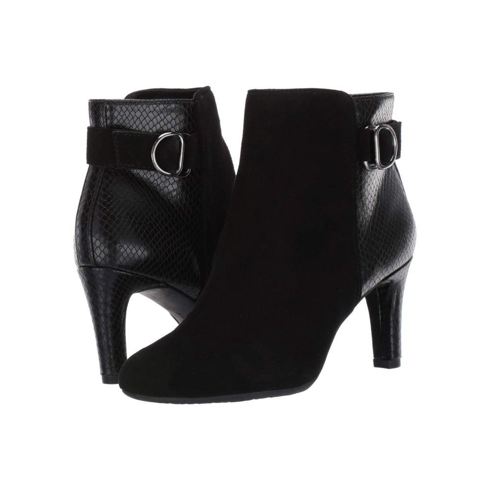 バンドリーノ Bandolino レディース ブーツ シューズ・靴【Lanna】Black/Black Suede