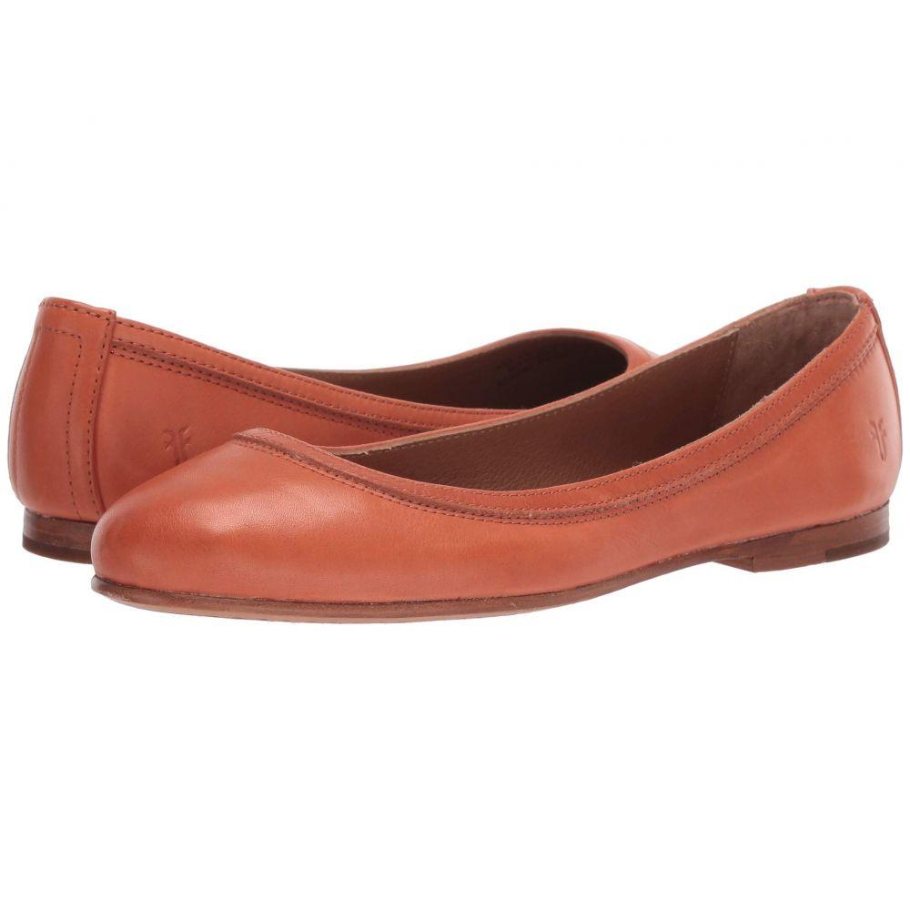 フライ Frye レディース スリッポン・フラット シューズ・靴【Carson Ballet】Sunset Orange Polished Soft Full Grain