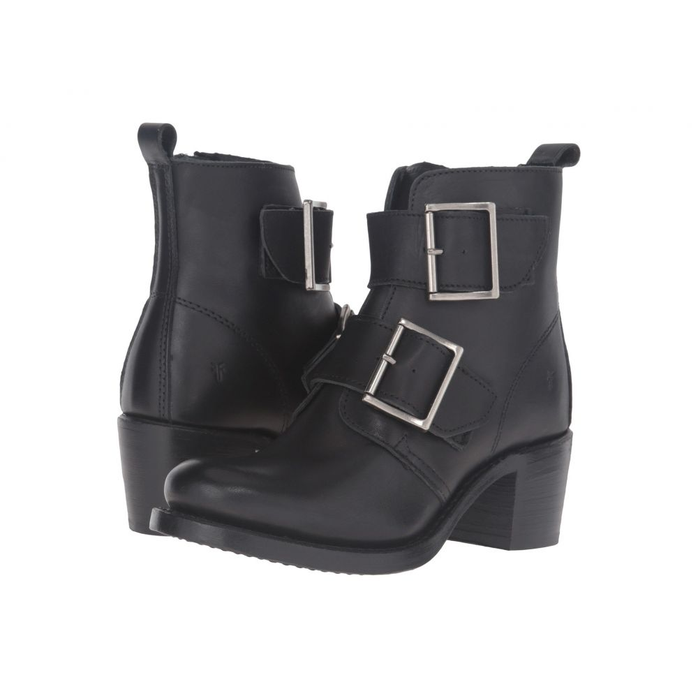 フライ Frye レディース ブーツ シューズ・靴【Sabrina Double Buckle】Black Smooth Polished Veg