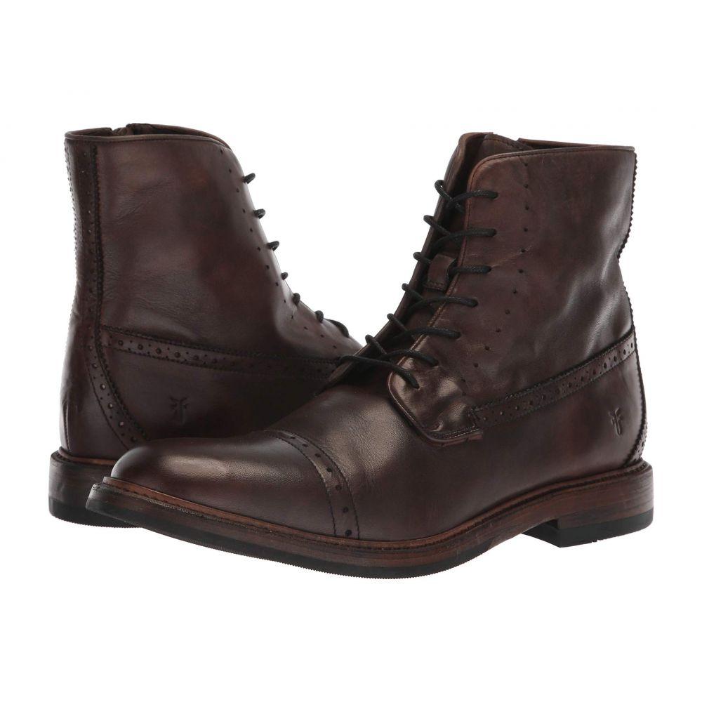 フライ Frye メンズ ブーツ レースアップ シューズ・靴【Murray Lace-Up】Brown Washed Dip-Dye Leather