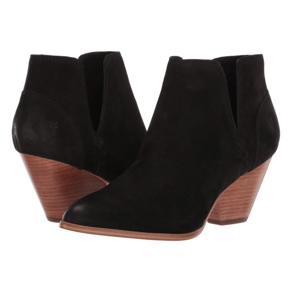 フライ Frye レディース ブーツ シューズ・靴【Reina Cut Out Bootie】Black Tumbled Nubuck